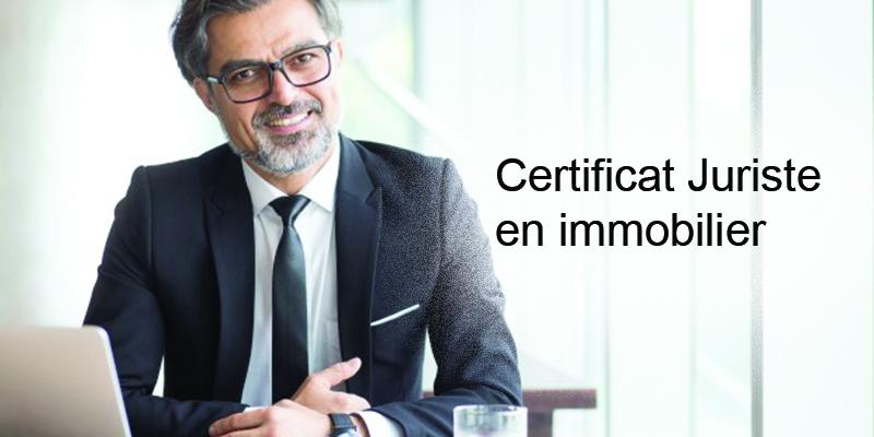 Formation certificat juriste en immobilier d'entreprise